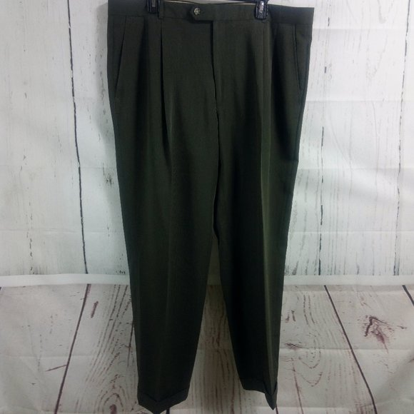 Pronto Uomo Other - Pronto Uomo Men's Dark Olive Dress Pants 40x29.5 P